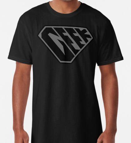 Geek SuperEmpowered (Black on Black) Long T-Shirt