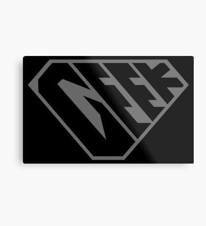 Geek SuperEmpowered (Black on Black) Metal Print