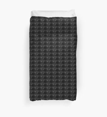 Geek SuperEmpowered (Black on Black) Duvet Cover
