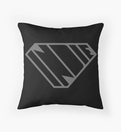 Indie SuperEmpowered (Black on Black Edition) Throw Pillow