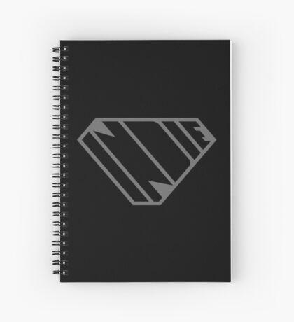 Indie SuperEmpowered (Black on Black Edition) Spiral Notebook