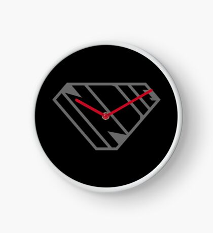 Indie SuperEmpowered (Black on Black Edition) Clock