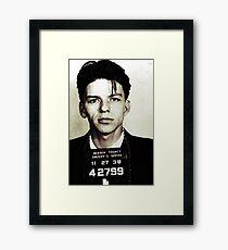 Mugshot Collection - Frank Sinatra Framed Print