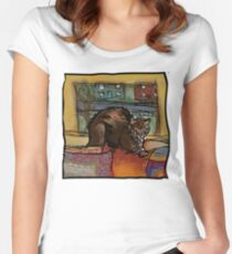 The Leisurely Cat Women's Fitted Scoop T-Shirt