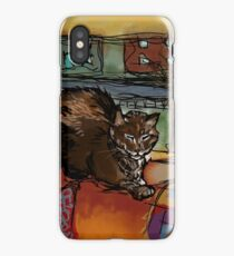 The Leisurely Cat iPhone Case
