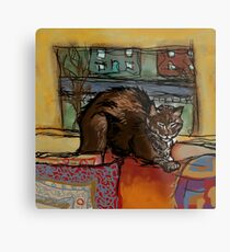The Leisurely Cat Metal Print