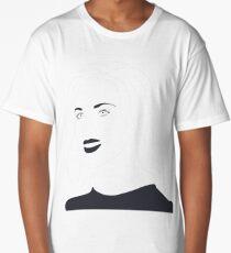 Scarlett Johansson Line Drawing Long T-Shirt