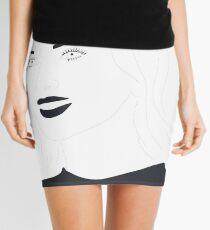 Scarlett Johansson Line Drawing Mini Skirt