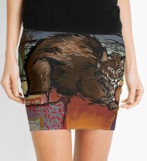 The Leisurely Cat Mini Skirt