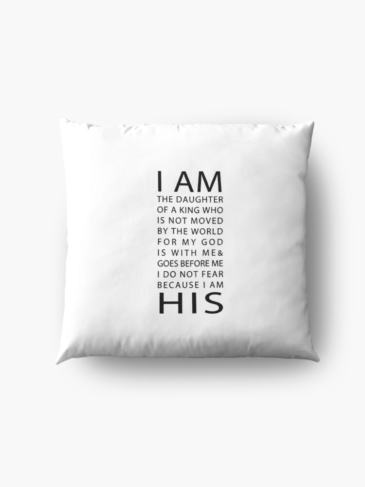 Alternate view of Christian Quote Floor Pillow