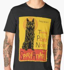 Funny Berger Picard Cute Dog Chat Noir Mashup Art Design Men's Premium T-Shirt