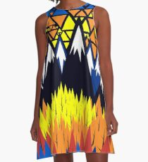 Triangulated Location  A-Line Dress
