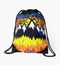 Triangulated Location  Drawstring Bag