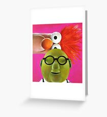 Bunsen and Beaker Greeting Card