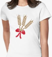 Wheat bow Women's Fitted T-Shirt