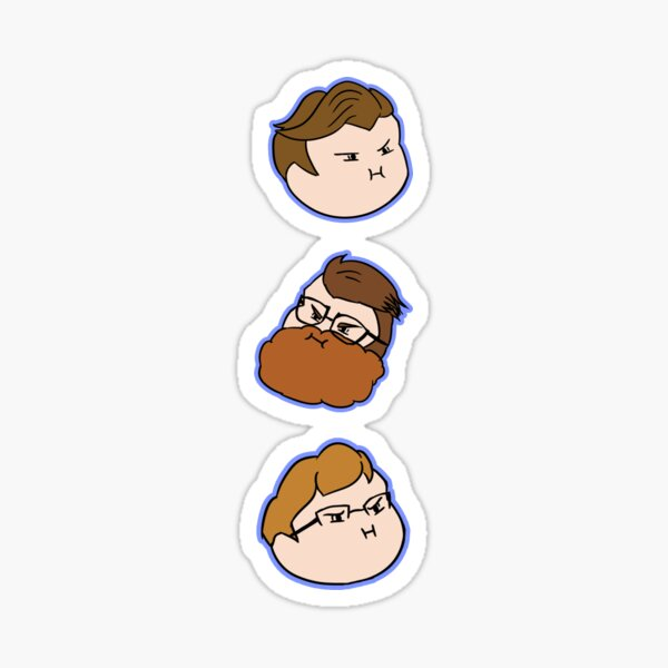 McElroy Brothers Grump Head Icons Sticker