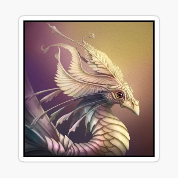 Mother of Pearl Dragon. Sticker