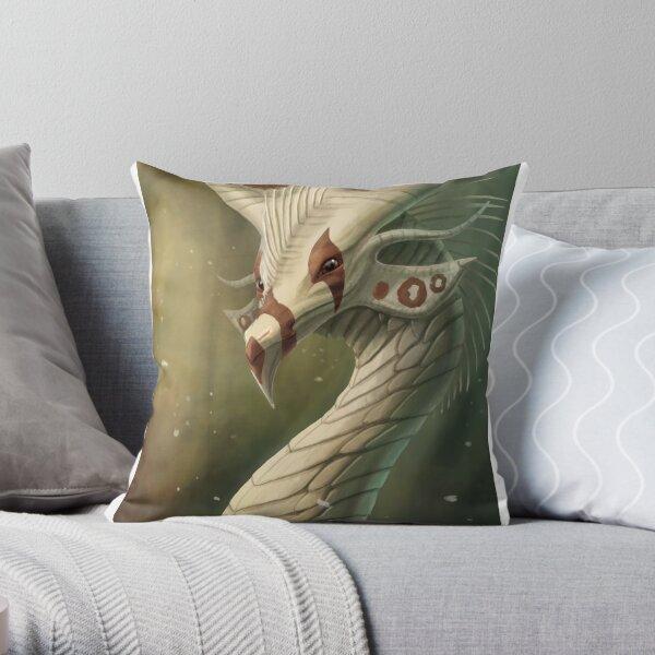 Deep Forest Dragon Throw Pillow