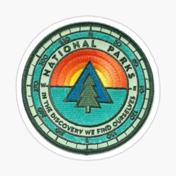 National Parks Patch Sticker