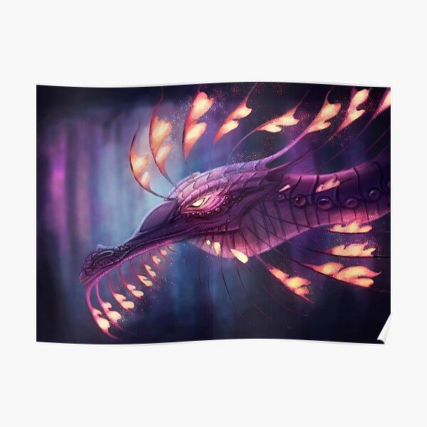 Purple Cave Dragon Poster