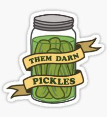 Them darn pickles Sticker
