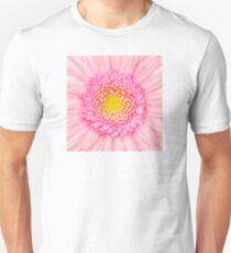 Pink Gerbera Flower Macro Unisex T-Shirt