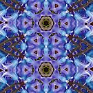 Purple Floral Mandala With Hearts by DesJardins