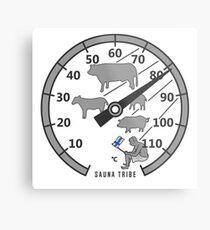 Sauna Tribe - Thermometer Metal Print