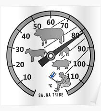 Sauna Tribe - Thermometer Poster