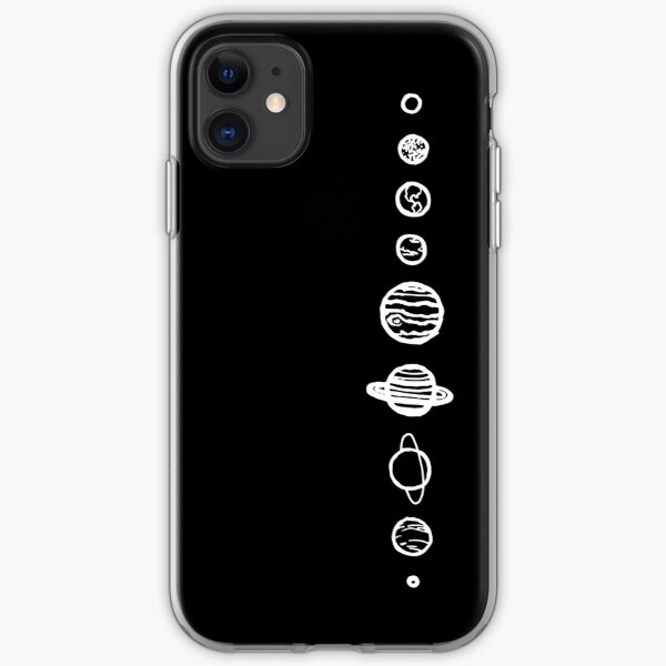 Black Planets iPhone Soft Case