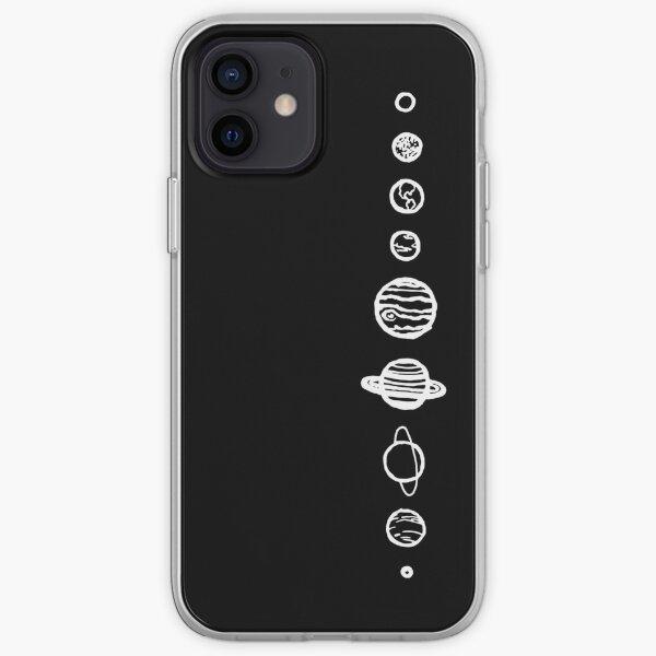 Planetas negros Funda blanda para iPhone