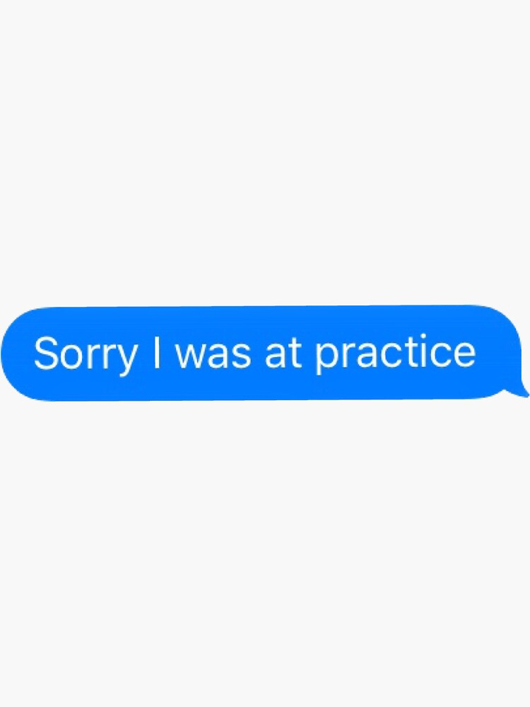 Sorry I was at practice by sarapadula