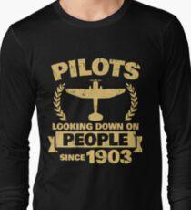 Funny Pilot Apparel Long Sleeve T-Shirt