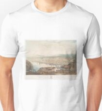 Vintage Pictorial Map of St Johns Newfoundland (1831) Unisex T-Shirt