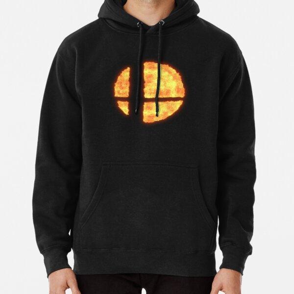 Super Smash Bros Flaming Logo Sweat à capuche épais