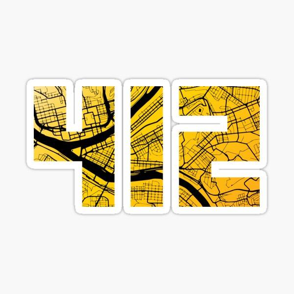 Pittsburgh 412 Map Sticker
