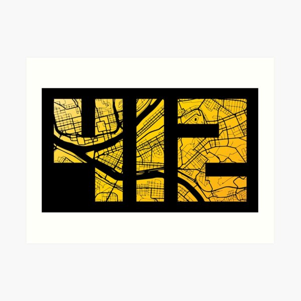 Pittsburgh 412 Karte Kunstdruck