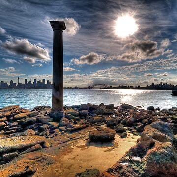 Sydney Harbour Sandstone Pillar by scatrdjason
