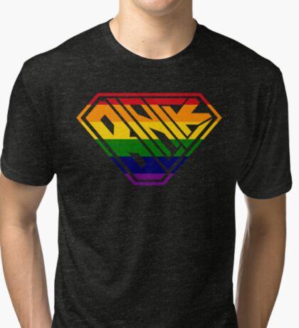 Black SuperEmpowered (Rainbow) Tri-blend T-Shirt