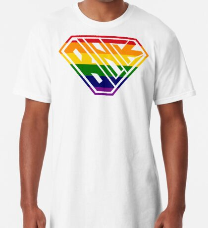 Black SuperEmpowered (Rainbow) Long T-Shirt