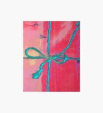 Atractivo azul eléctrico busca lazo rosa fluorescente... Lámina de exposición