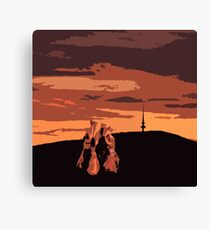 dancers in the sky Canvas Print