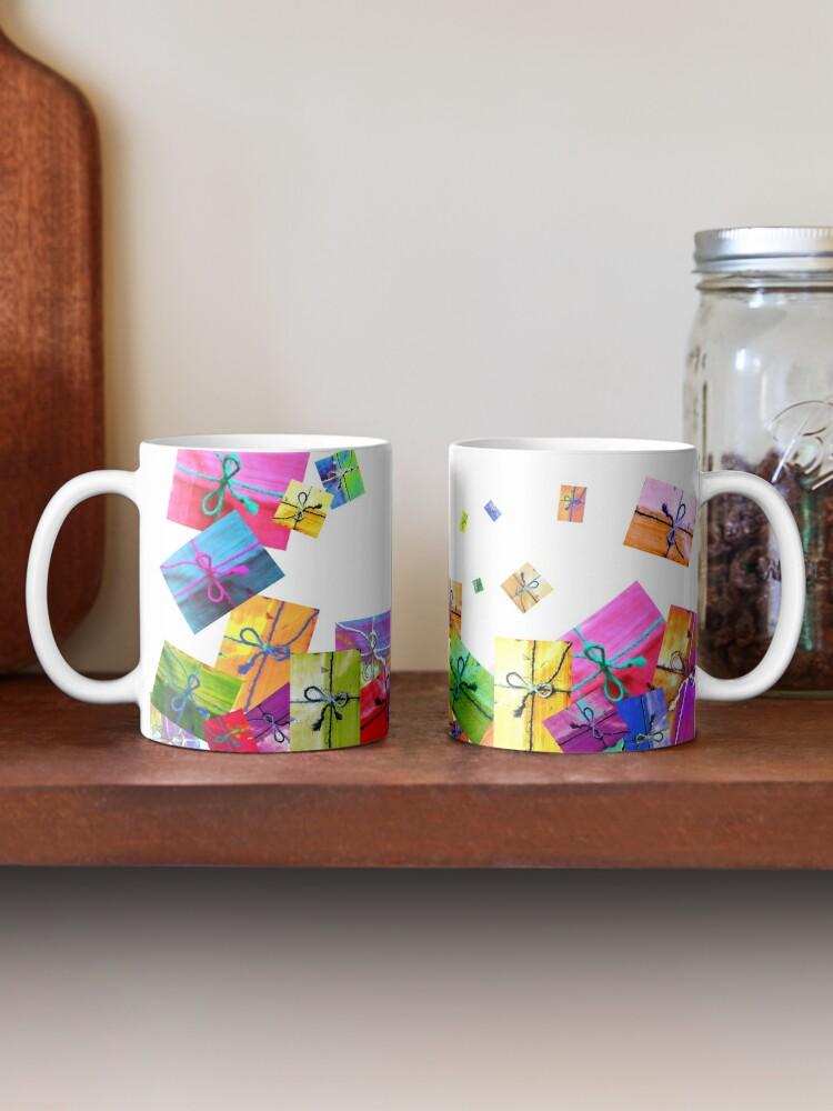 Alternate view of  A Lot of Gifts! · ¡Un montón de regalitos! · Viele Geschenke!!! · Plein de cadeaux ! Mug