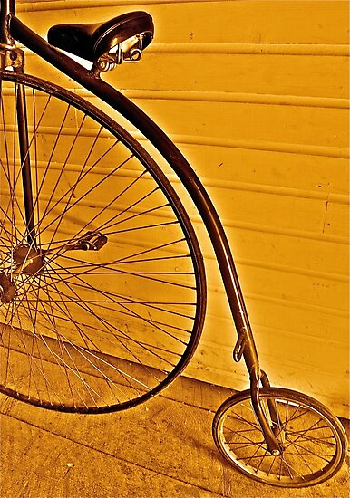 Penny - farthing by Linda Bianic
