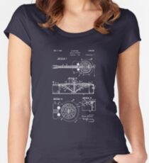 Resonator/Dobro Guitar Patent Drawing Women's Fitted Scoop T-Shirt