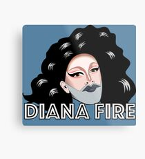Diana Fire - Portrait Metal Print