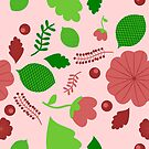 Spring Flower Pattern (pink) by Stephanie Hardy