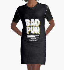 Funny Pun Joke Apparel Graphic T-Shirt Dress