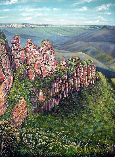 On the Edge, Blue Mountains, Australia by Linda Callaghan
