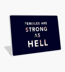 Females are Strong As Hell Laptop Skin